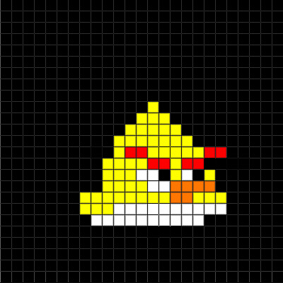 Easy Pixel Art Grid Angry Birds Pixel Art Collection