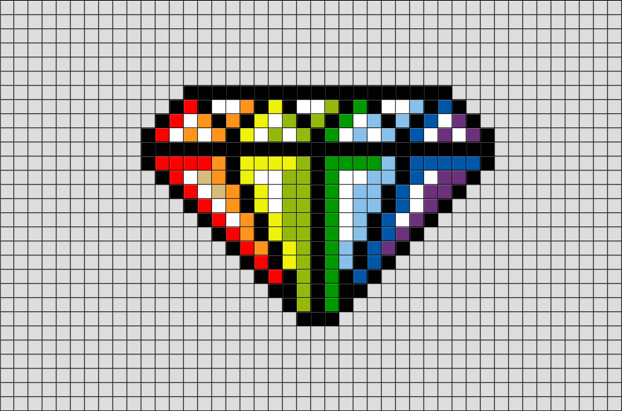 Easy Pixel Art Grid Diamond Pixel Art – Brik
