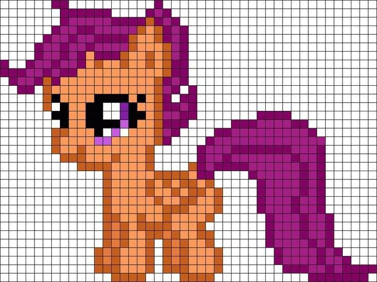 Easy Pixel Art Grid My Little Pony Minecraft Pixel Art Grid Crafts