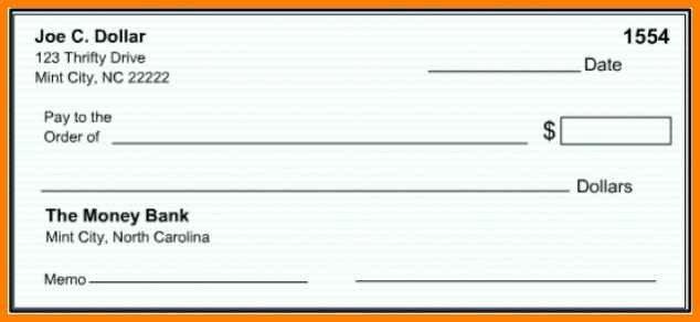 Editable Blank Check Template 10 Editable Blank Check Template