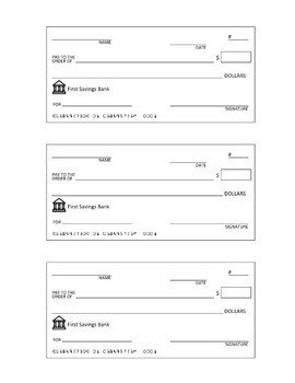 Editable Blank Check Template Pletely Editable Check Template Great for Class