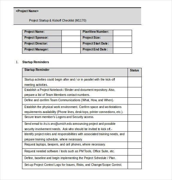 Editable Checklist Template Word 34 Word Checklist Templates
