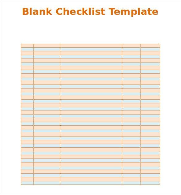 Editable Checklist Template Word Blank Checklist Template 36 Free Psd Vector Eps Ai