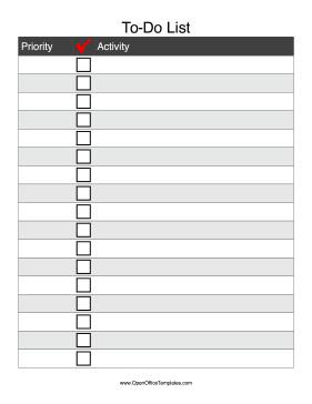 Editable Checklist Template Word to Do Checklist Open Fice Template