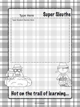 Editable Class List Class List Poster Detective theme Editable by Mrs