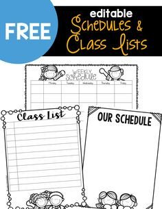 Editable Class List Cute Lesson Plan Template… Free Editable Download