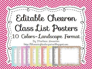 Editable Class List Lil Country Librarian