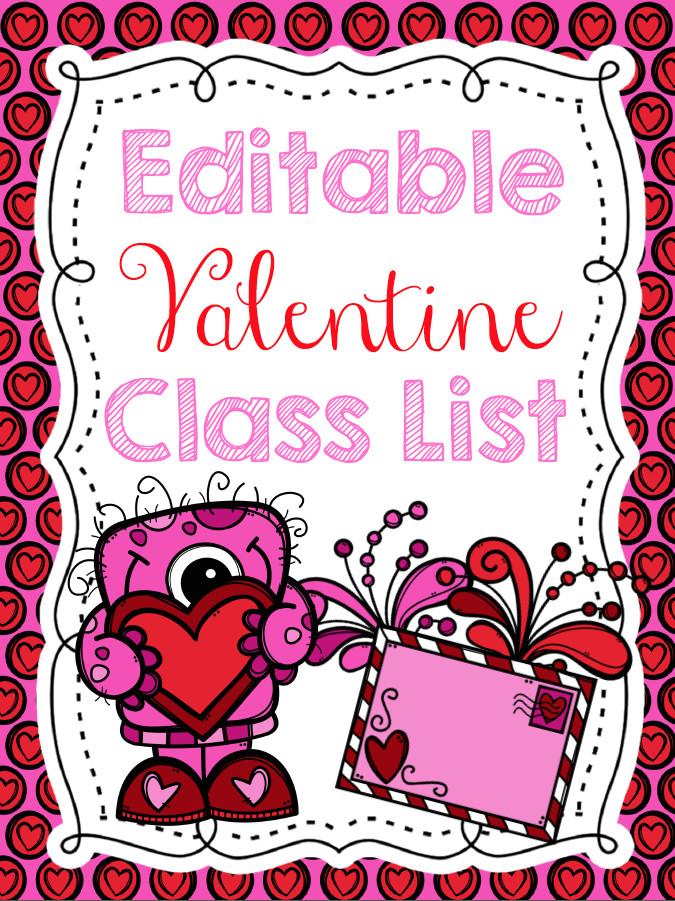Editable Class List Teach Dream Inspire Editable Valentine Class List Freebie