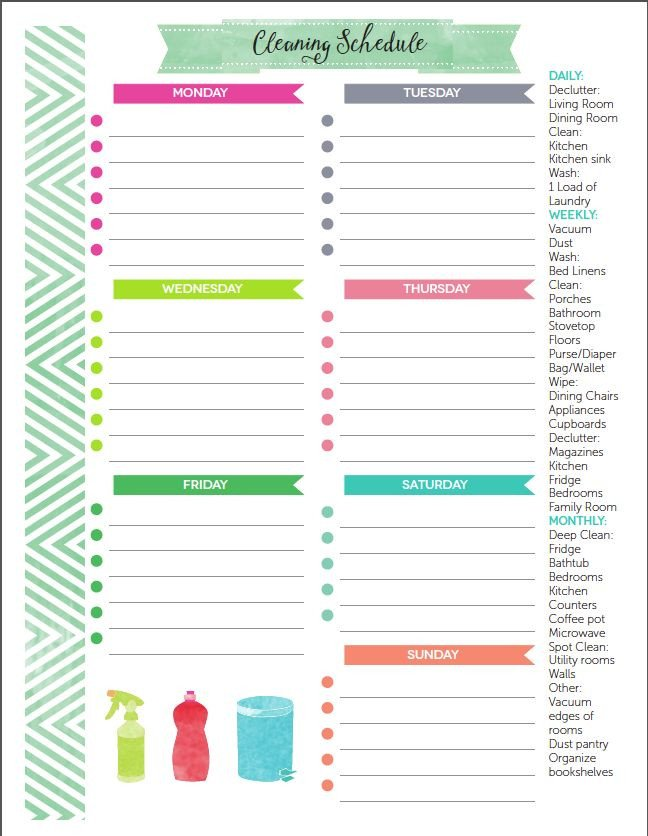 Editable Cleaning Schedule Template the Best Free Printable Cleaning Checklists
