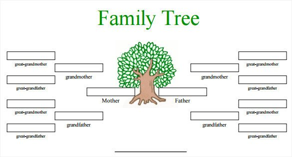Editable Family Tree Template Blank Family Tree Template 32 Free Word Pdf Documents