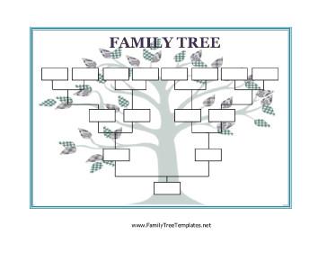 Editable Family Tree Template Blank Family Tree Template