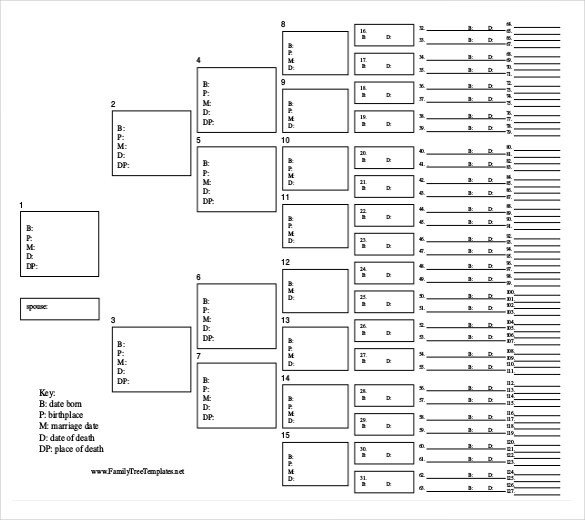 Editable Family Tree Template Simple Family Tree Template 25 Free Word Excel Pdf