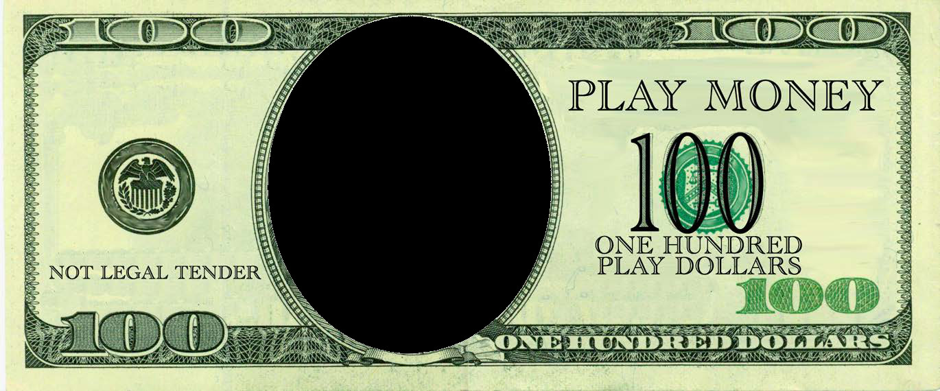 Editable Play Money Template 100 Dollars Play Money