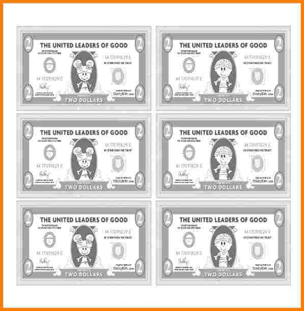 Editable Play Money Template 7 Customizable Fake Money Template