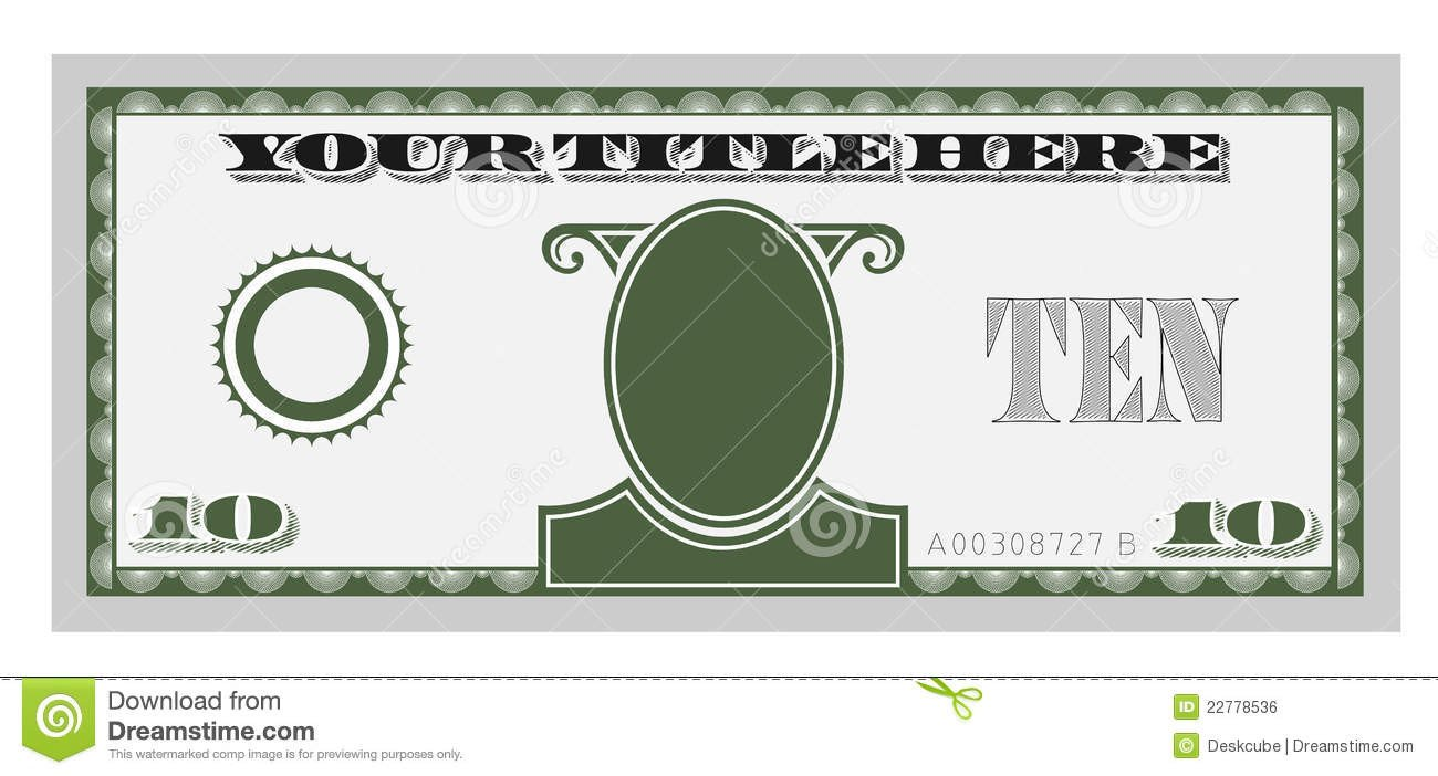 Editable Play Money Template Clipart Fake Money 20 Free Cliparts