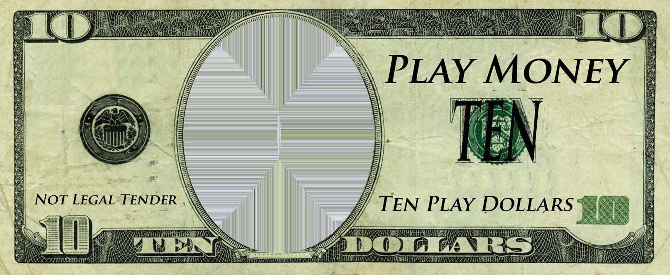 Editable Play Money Template Realistic Play Money Templates