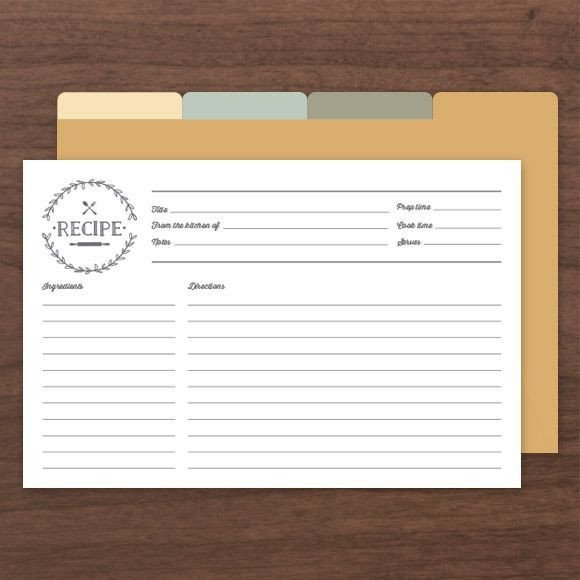 Editable Recipe Card Template Printable & Editable Recipe Cards Es with Front and