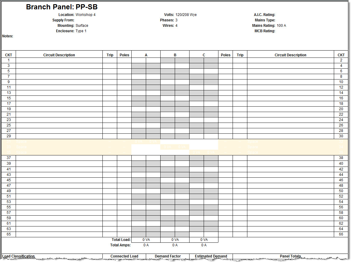 Electric Panel Schedule Template Revit Electrical Panel Schedule Configuration Information