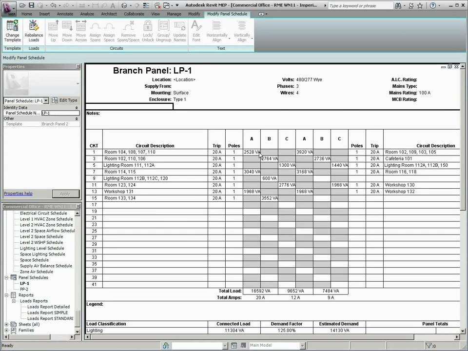 Electric Panel Schedule Template What S New In Revit Mep 2011 Panel Schedule Templates