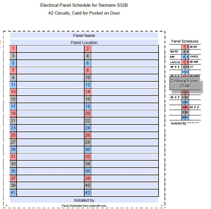 Electrical Panel Schedule Template Excel 5 Free Panel Schedule Templates In Ms Word and Ms Excel