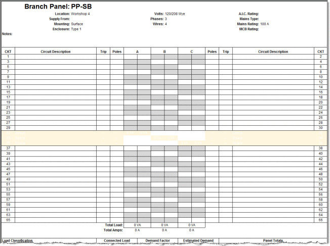 Electrical Panel Schedule Template Excel Revit Electrical Panel Schedule Configuration Information