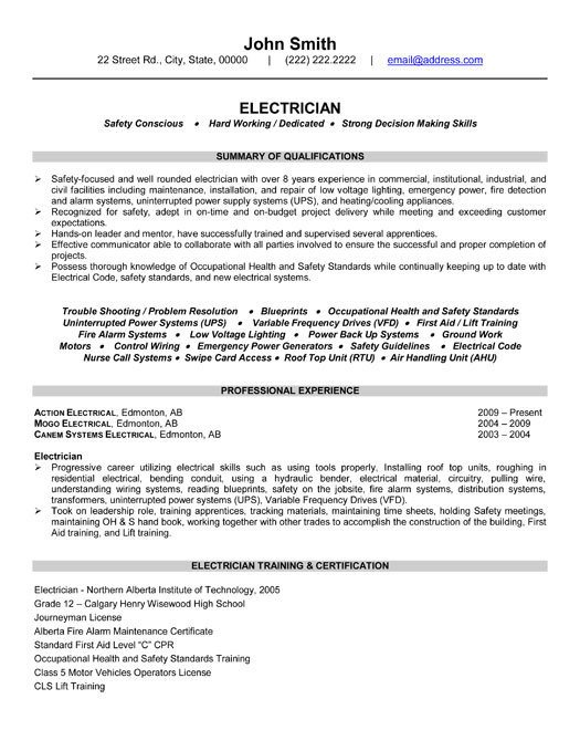 Electrician Resume Template Microsoft Word Electrician Resume Template Microsoft Word Templates