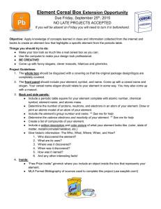 Element Birth Certificate Element Birth Certificate