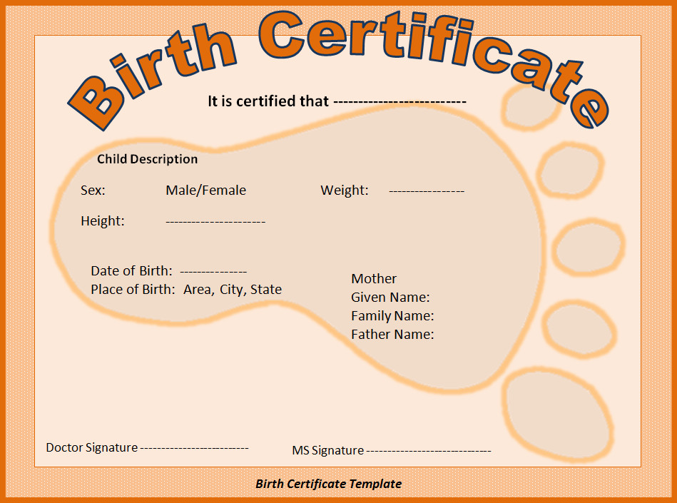 Element Birth Certificate Thomasthinktank [licensed for Non Mercial Use Only