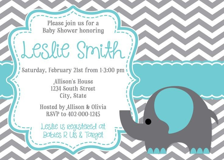 Elephant Baby Shower Invitation Templates 10 Best Impressive Elephant Baby Shower Invitations