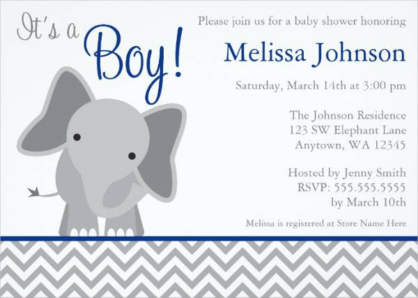 Elephant Baby Shower Invitation Templates 11 Baby Shower Invitation Templates Download