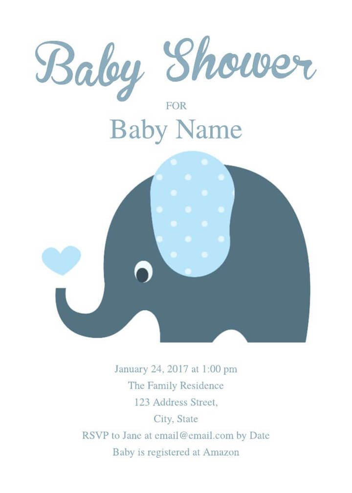 Elephant Baby Shower Invitation Templates 16 Free Invitation Card Templates & Examples Lucidpress
