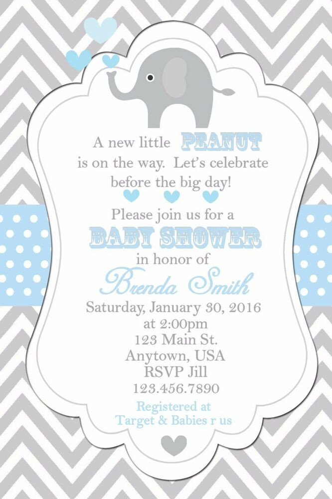Elephant Baby Shower Invitation Templates Baby Shower Invitation Elephants Invitation Baby Shower
