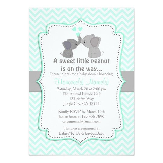 Elephant Baby Shower Invitation Templates Boy Blue Elephant Baby Shower Invitations Chev 330