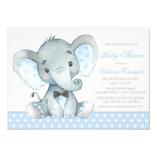 Elephant Baby Shower Invitation Templates Elephant Baby Boy Shower Invitations