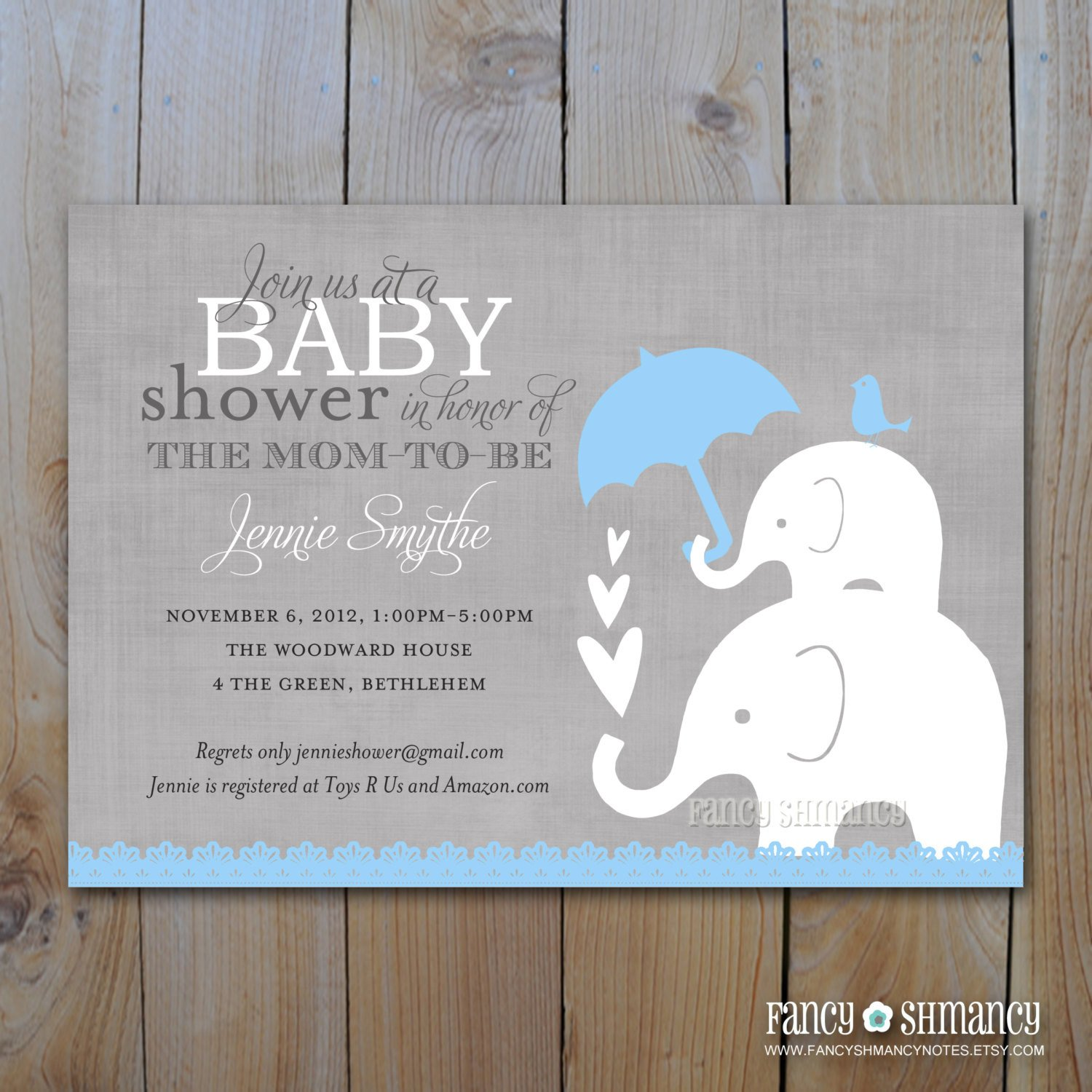 Elephant Baby Shower Invitation Templates Elephant Baby Shower Invitation Printable Baby Boy Shower