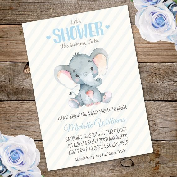 Elephant Baby Shower Invitation Templates Elephant Baby Shower Invitation Template – Edit with Adobe