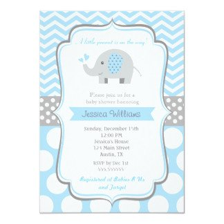 Elephant Baby Shower Invitation Templates Elephant Baby Shower Invitations & Announcements