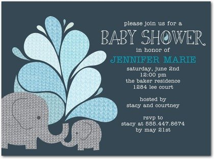 Elephant Baby Shower Invitation Templates Elephant themes Baby Shower Ideas