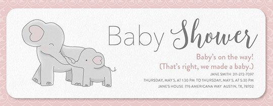 Elephant Baby Shower Invitation Templates Free Baby Shower Invitations