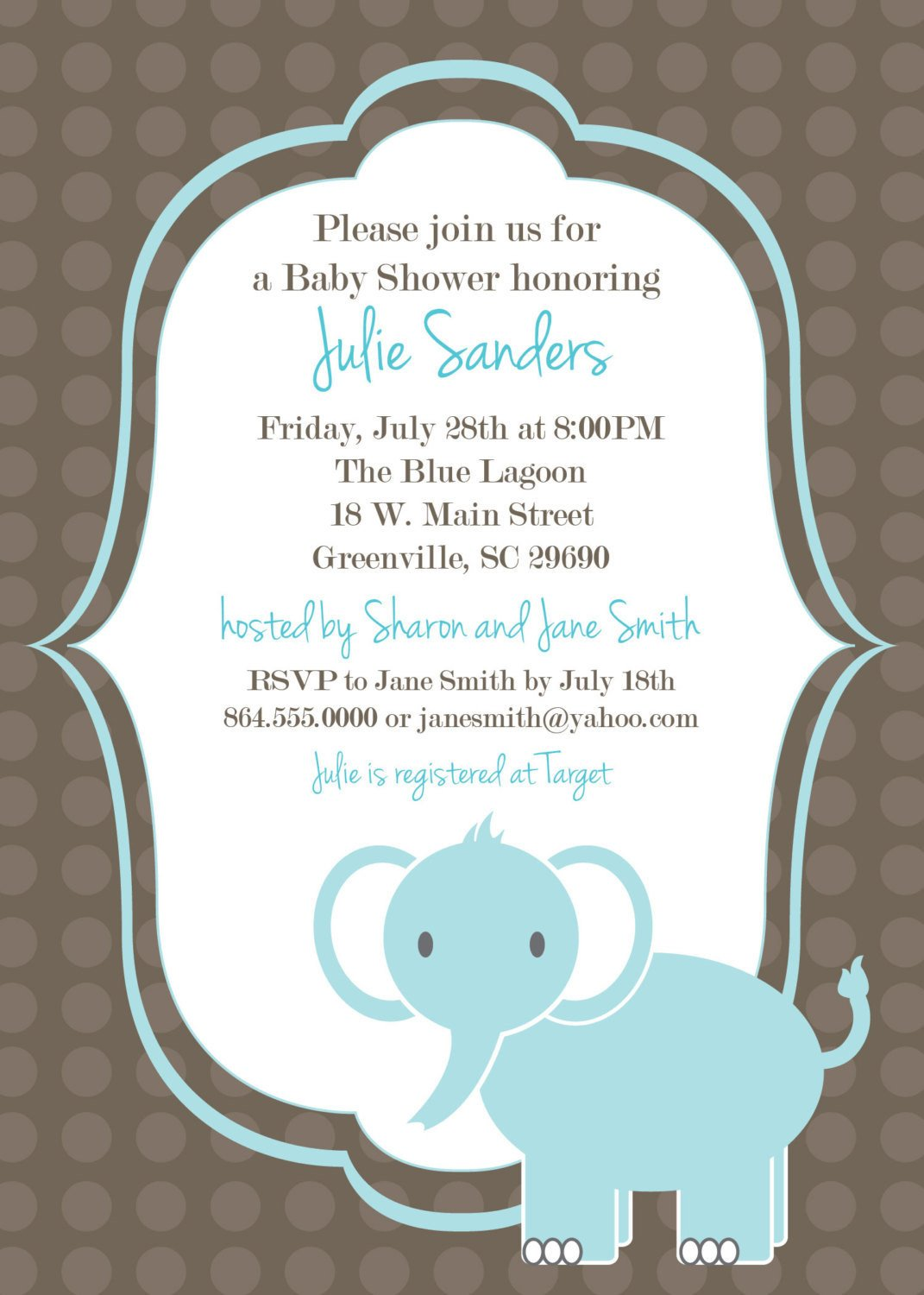 Elephant Baby Shower Invitation Templates Printable Baby Shower Invitation Elephant Boy by Ohcreative E