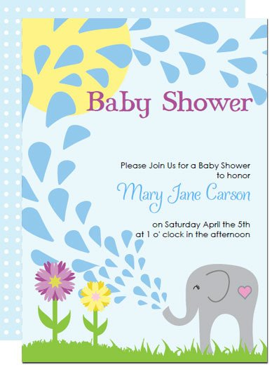 Elephant Baby Shower Invitation Templates Printable Elephant Baby Shower Invitations Templates