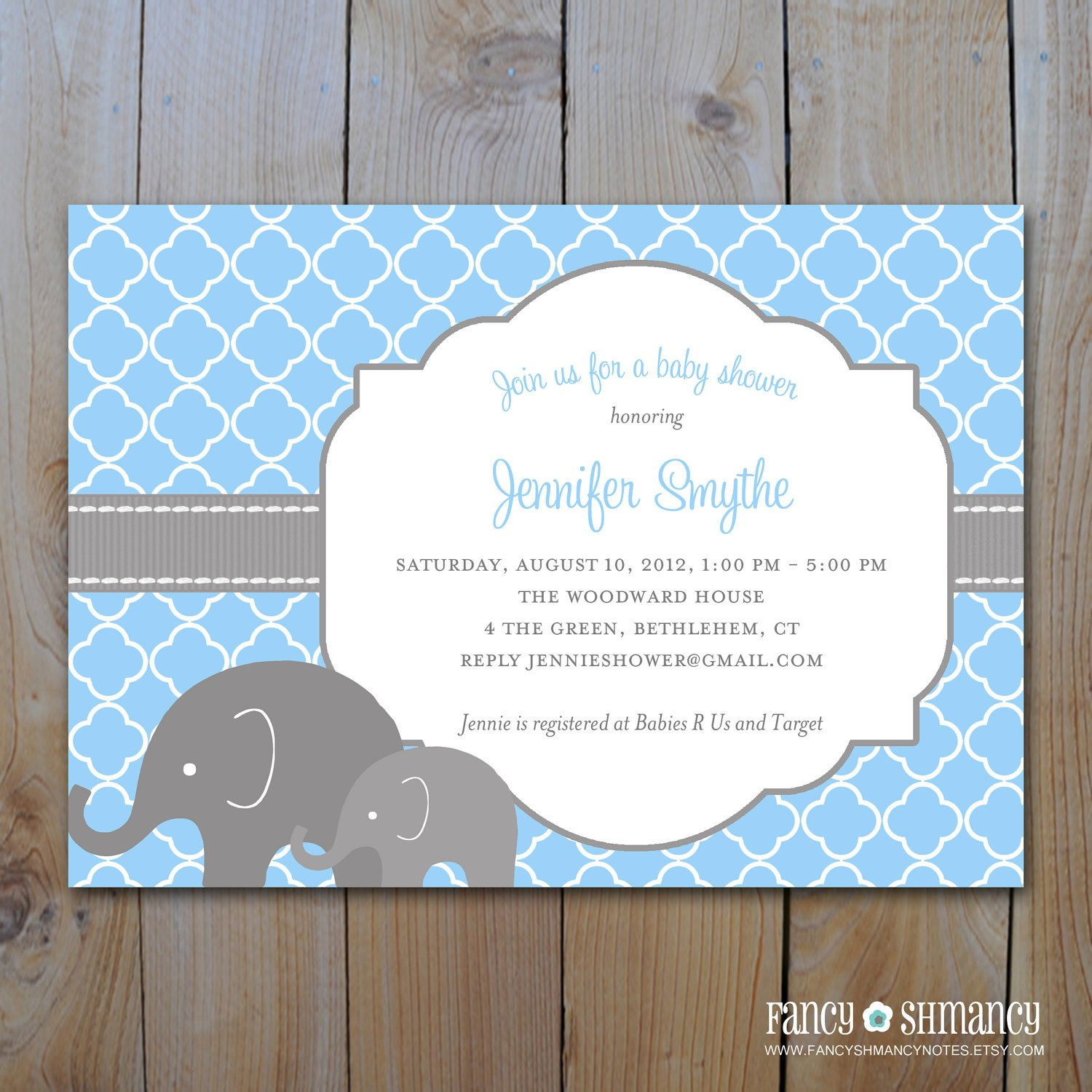 Elephant Baby Shower Invitation Templates Unavailable Listing On Etsy
