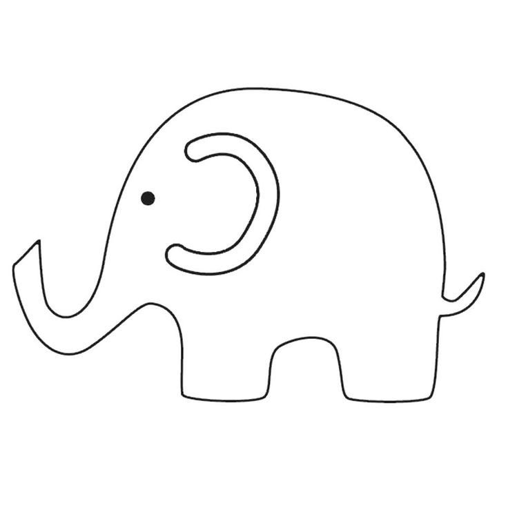 Elephant Cut Out Template 1000 Ideas About Elephant Template On Pinterest