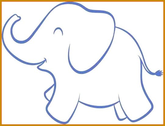 Elephant Cut Out Template 3 Elephant Cut Out Template