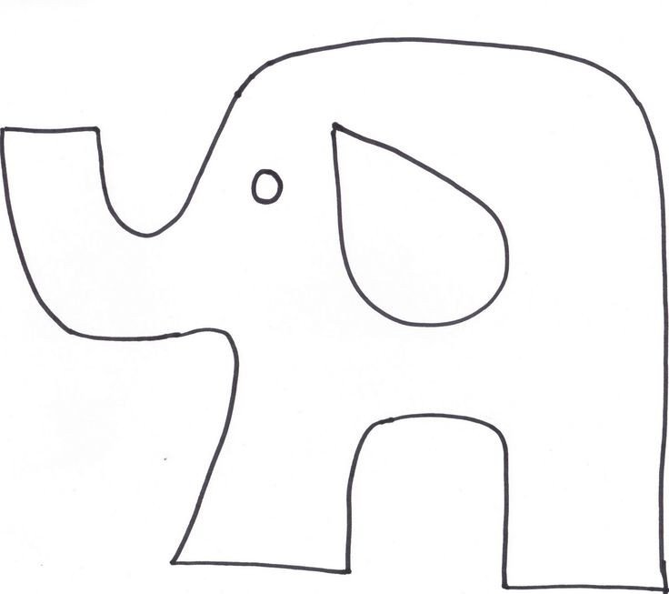 Elephant Cut Out Template 65 Best Cut Out Templates Images On Pinterest