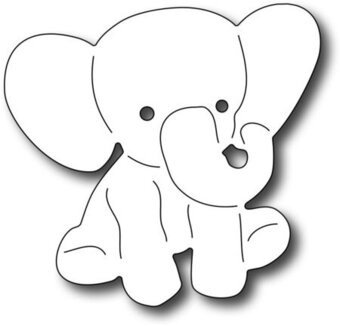 Elephant Cut Out Template Baby Elephant Frantic Stamper Craft Dies Fra Die
