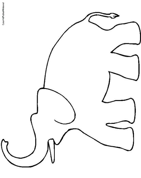 Elephant Cut Out Template Elephant Color Page Elephant Coloring Pages