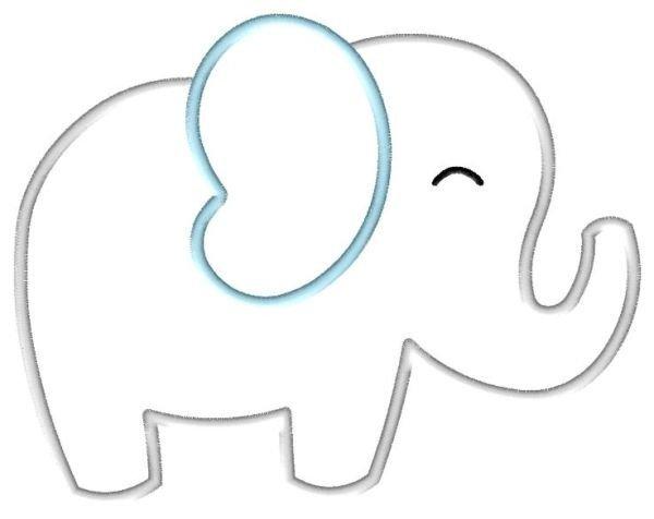 Elephant Cut Out Template Elephant Line Art
