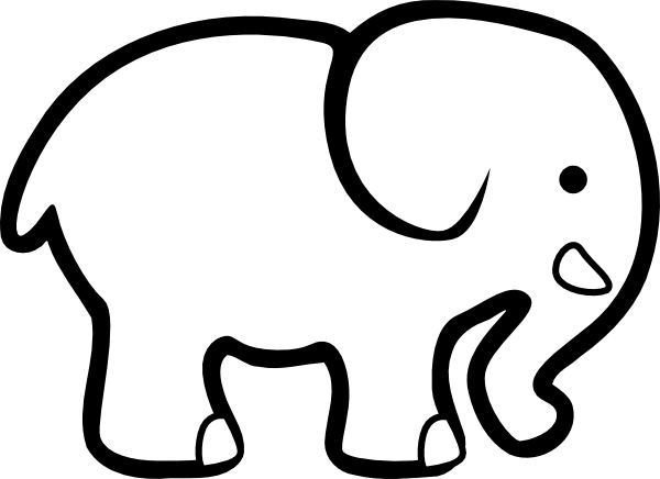 Elephant Cut Out Template Elephant Outline Cutouts Google Search …