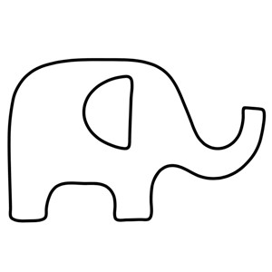 Elephant Cut Out Template Free Applique Pattern Elephant